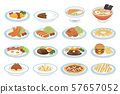 Various dishes 57657052