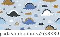 kids dino pattern scandinavian mininalism 57658389