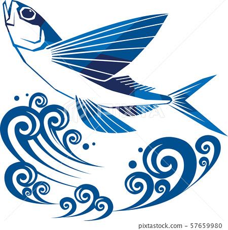 飛魚圖像例證 57659980