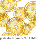 Seamless watercolor pattern with lemons 57661168