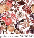 Seamless watercolor pattern with lemons 57661343