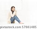 여성 라이프 스타일 앉아 방 거실 57661485