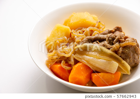 """A classic Japanese home cooking """"meat potato"""". 57662943"""