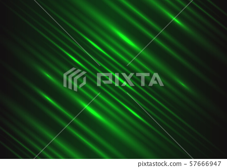 Abstract green light speed power technology energy on black futuristic background vector illustration. 57666947