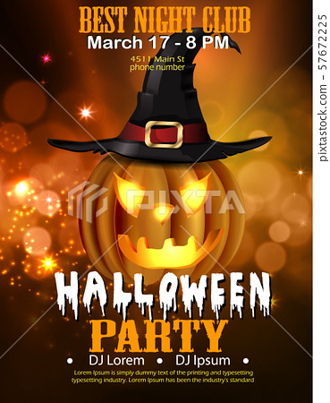 Halloween Party Design template vector 57672225