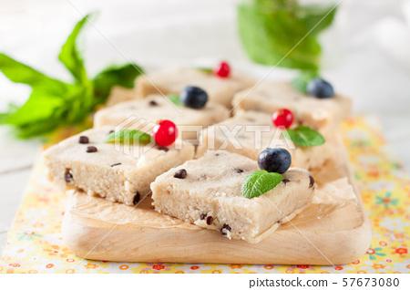 Healthy no bake banana and coconut cookies 57673080