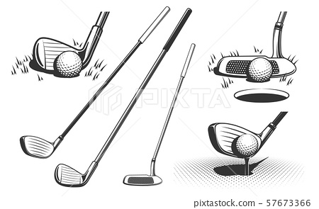 Golf clubs and a ball 57673366