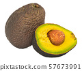 Avocado 3d rendering with realistic texture 57673991