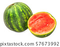 Watermelon 3d rendering with realistic texture 57673992
