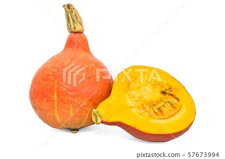 Pumpkin 3d rendering with realistic texture 57673994
