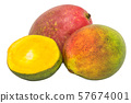 Mango 3d rendering with realistic texture 57674001