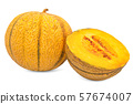 Charentais melon 3d rendering 57674007