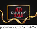 November 11 Singles Day Sale. Vector Illustration 57674257