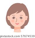 여자 얼굴 57674539