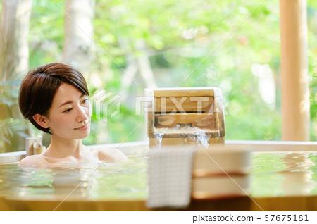 溫泉,露天浴池,沐浴 57675181