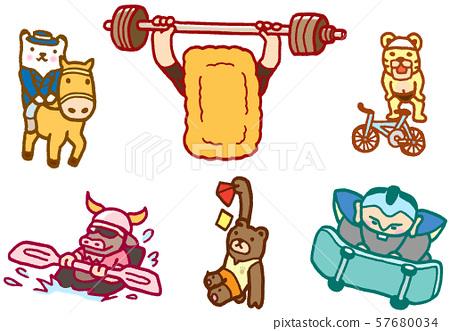 동물 캐릭터 스포츠 올림픽 경기 부 경기 57680034