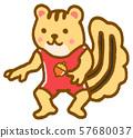 동물 캐릭터 스포츠 올림픽 레슬링 57680037