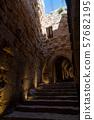 Ajloun Castle in north-western Jordan. Arab and 57682195