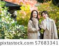 여행 여성 가을 단풍 부모 관광 이미지 57683341