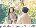 여행 가을 단풍 모녀 부모 가족 여행 이미지 57687590