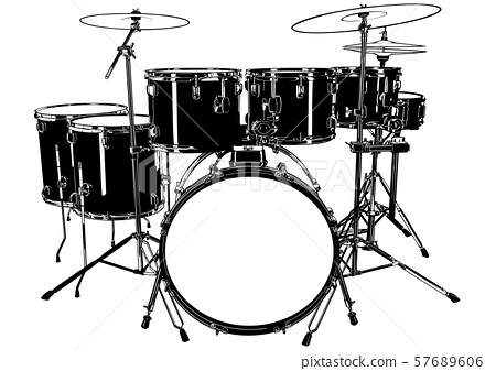 Black and White Drums 57689606