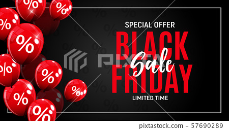 Black Friday Sale Banner Template. Vector 57690289