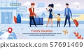 Family on Vacation Check into Hotel Flat Poster 57691469
