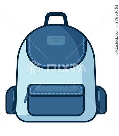 Backpack icon. Vector school symbol. Travel icon. 57693663