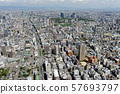 Aerial view of Osaka city 57693797