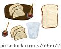 아침 빵, 아침 식사 57696672