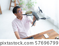 드론 컨트롤러 1 명 취미 일 홈 비즈니스 노인 노후 인테리어 디자인 방 57696799