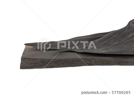 Carved sculpture of bog oak on a white background. 57700265