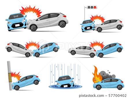 插圖素材:車禍,集 57700402