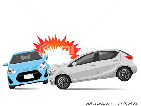 插圖素材:汽車,碰撞事故 57700405
