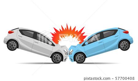 Illustration material: car collision accident 57700408