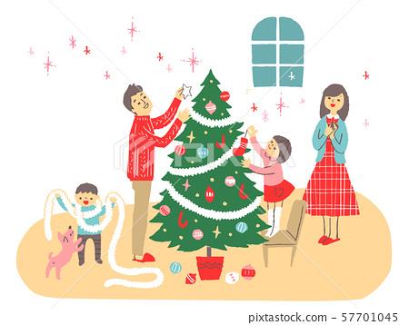 Christmas tree and family 1 57701045