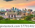 Kansas City, Missouri, USA downtown skyline 57701402