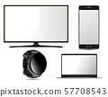 Monitor, Laptop, Smart Watch, Mobile Phone Mockup 57708543