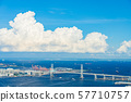 Summer Minato Mirai to Yokohama Bay Bridge 57710757