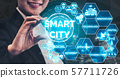 Smart City and internet technology concept. 57711726