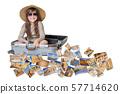 Smiling little girl travel Egypt concept 57714620