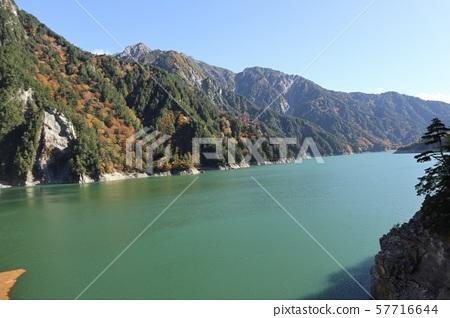 Lake Kurobe in early autumn 57716644