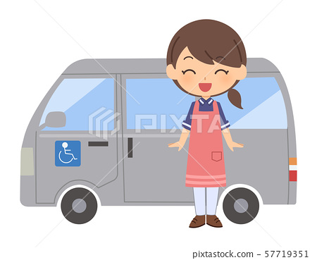 간병인 여성 미소 57719351