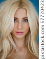 Fashionable close-up portrait of a beautiful young woman 57720423