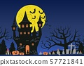 Halloween theme with big moon night 57721841