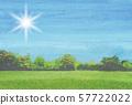 푸른 하늘 공원 수채화 57722022