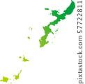 오키나와 사키 시마 제도지도 일러스트 57722811