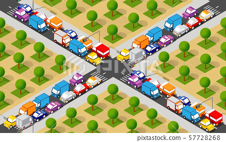 Isometric Crossroads intersection 57728268