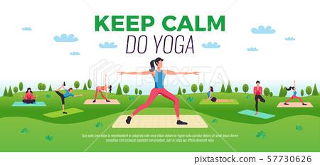 Fitness Yoga Horizontal Composition  57730626