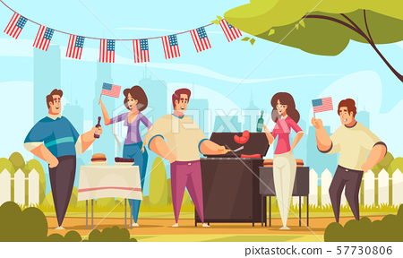 Independence Day Barbecue Composition 57730806